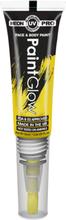 Neon UV/Blacklight Ansikt og Kroppsmaling med Kost - Gul