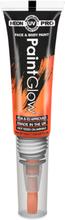 Neon UV/Blacklight Ansikt og Kroppsmaling med Kost - Orange
