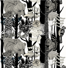 Veljekset (Finland 100 år) tyg svart-vit
