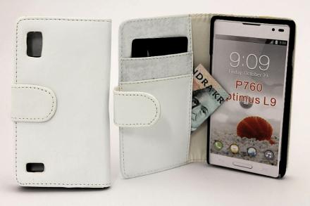 Plånboksfodral lg optimus l9 (p760) vit