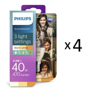 Philips LED SceneSwitch E14 Kr 40W 4st