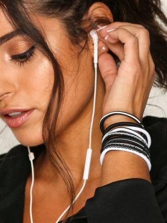 Nike Elastic Hairband 9-Pack Övrigt Vit/Svart