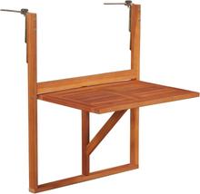 vidaXL Hängande balkongbord 64,5x44x80 cm massivt akaciaträ