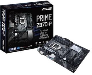Asus prime z370-p moderkort, atx, z370, 1151, ddr4, svart