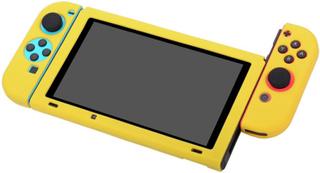BUBM Nintendo Switch Beskyttelses deksel laget av silikon - Gult