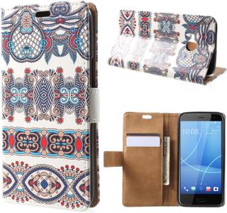 HTC U11 Life Etui laget av kunstlær og silikon - Arabisk blomster mønster