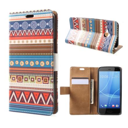 HTC U11 Life Etui laget av kunstlær og silikon - Geometrisk mønster