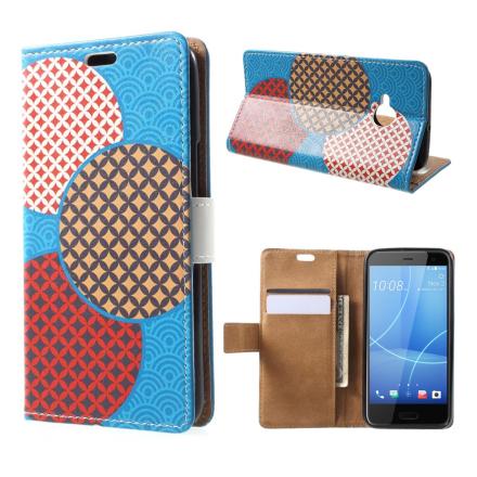 HTC U11 Life Etui laget av kunstlær og silikon - Sirkler