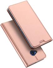 DUX DUCIS HTC U11 Life Etui laget av kunstlær og silikon - Rosa gull