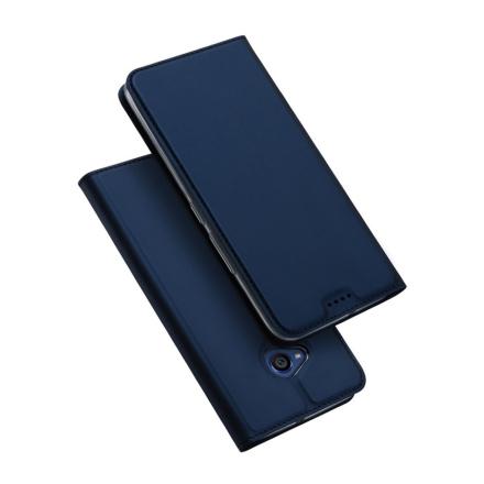 DUX DUCIS HTC U11 Life Etui laget av kunstlær og silikon - Mørk blått