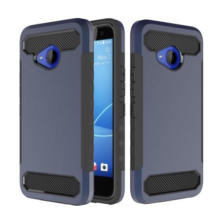HTC U11 Life Deksel laget av plastikk og silikon - Mørk blått