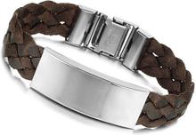 Armband rostfritt stål McCartney brunt