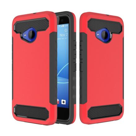 HTC U11 Life Deksel laget av plastikk og silikon - Rødt