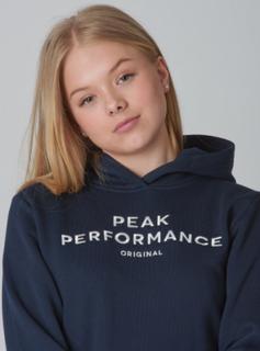 Peak Performance, JR ORIG H, Blå, Hættetrøjer till Pige, 130 cm