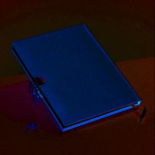 Dagbok 21 x 16 cm - brun 70 ark med lås