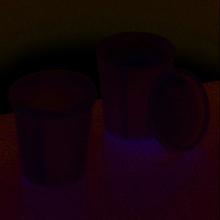 Kopp för färgblandning 50 ml - 5 st. med lock