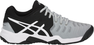 Asics Resolution 7 GS Grey/Black/White 35.5