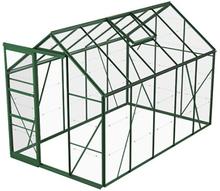 Växthus Bruka 6,2 m²-Grön-Glas-Nej