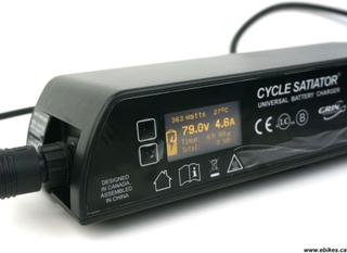Universal high end batterilader Li-ion/LiFePo4 opp til 72V 5A Satiator