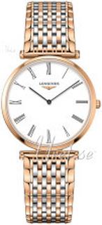 Longines L4.709.1.21.7 La Grande Classique De Longines Hvid/Rosaguldtonet ståll