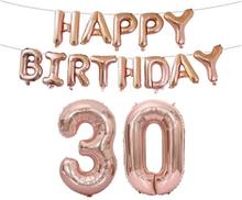 Syntymäpäiväpallot 30-vuotiaalle