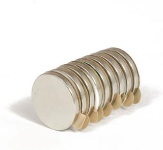 Sterk selvklebende disk magnet Ø 17x2 mm   Neodym   Styrke 1,8 kg
