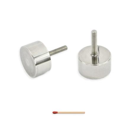 Pot magnet Ø60 mm, syrefast stål, løfter opptil 70kg