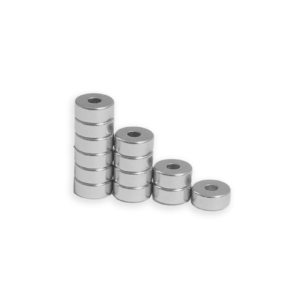 Neodym ring magnet Ø 6/2 mm x 2,5 mm   Kjempe utvalg av ring magneter