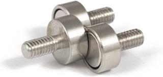 Gjenget neodym magnet Ø 10 mm | Utvendig gjenge M4 | Supermagneter.no