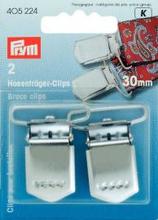 Hängselclips HT silverfärg 30 mm 2 st