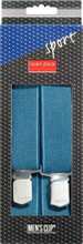 Hängslen Sport 110cm 36mm denimblå