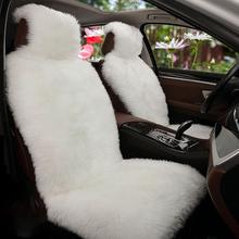 Universal Long Plush Auto Vordersitzbezug Winter Soft Sitzbezug aus warmem Wollimitat