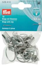 Ringar med clips 22mm silverfärg 10 st