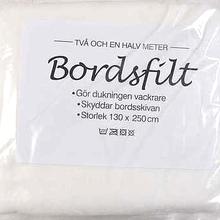 Bordsfilt Polyester - Vit - 130 x 250 cm