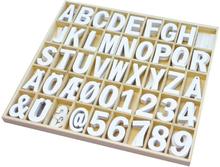Träbokstäver & siffror