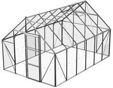 Växthus Bruka 9,9 m²-Aluminium-Glas-Nej