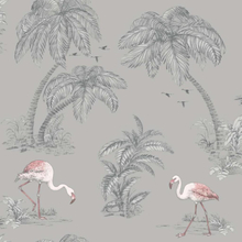 DUTCH WALLCOVERINGS Tapet flamingo grå