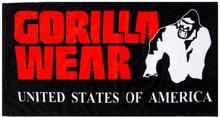 Gorilla Wear Classic Gym Towel - Svart/rød - håndkle