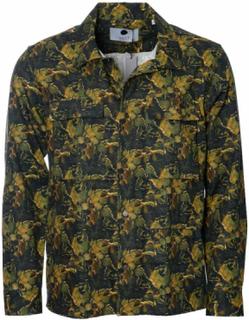 NN07 Orson 1337 Green Print Overshirt