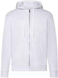 Zip Hooded Sweat Jacket White