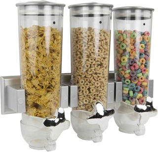 Flingbehållare - Wall Mounted Cornflakes Dispenser (Färg: Silver)