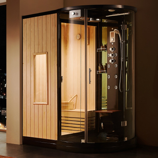 Dusjkabinett med sauna U880 175x118x222cm