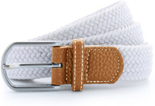 Braid Stretch Belt White