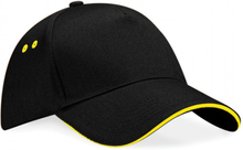 Ultimate 5 Panel Cap Black/Yellow