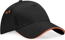 Ultimate 5 Panel Cap Black/Orange