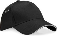 Ultimate 5 Panel Cap Black/Light Grey