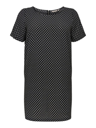 ONLY Curvy Detailed Short Sleeved Dress Women Black
