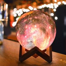 Neue 3D-Druck Moon Lamp Space LED Nachtlicht Fernbedienung USB Charge Valentine Geschenk