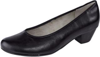 Sko med elastisk kant Jenny svart blomstrete