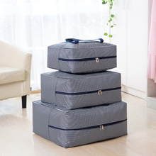 Verdicken Sie große Quilt-Tasche Oxford Stoff Aufbewahrungstasche Aufbewahrung Gepäck Tasche Kleidung Reisen Bewegen Sortieren
